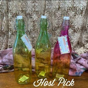 🌸HP🌸 Color Splashed Bottles - Set of Three